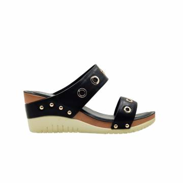 AMP0054 Everbest Women Shoes - Ladies Two Straps Slip-On Sandals