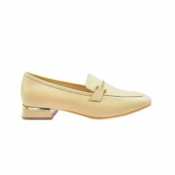 LR0081 Ladies Leather Loafer Boat Shoe