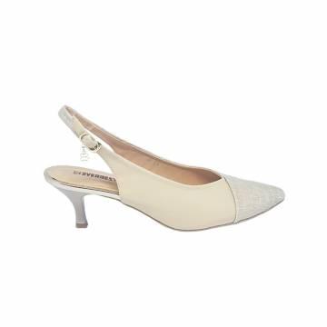 101203 Everbest Women Shoes - Kitten Heel Pointed Toe Sling back