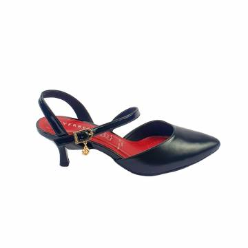 101206 Everbest Women Shoes - Double strap sling back Kitten heel ladies shoes