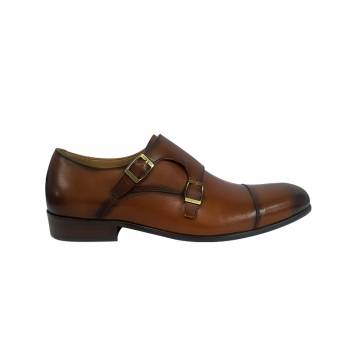 HTS6005 Everbest Men Shoes - Leather Double Monk Strap