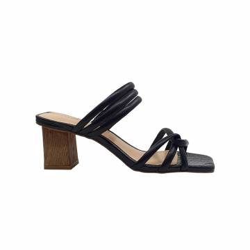 BZ6040 Everbest Women Shoes - Leather Mid Heel Sandals from BRAZIL