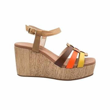 BZ6042 Everbest Women Shoes - Leather Platform Wedge Sandals from BRAZIL